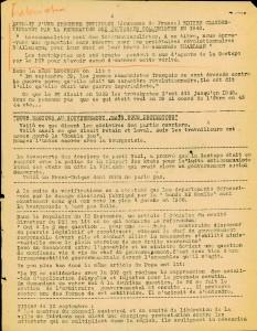 Décembre 1945 - cahier de l'agitateur - une page intérieur