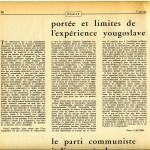 L'expérience Yougoslave 1964