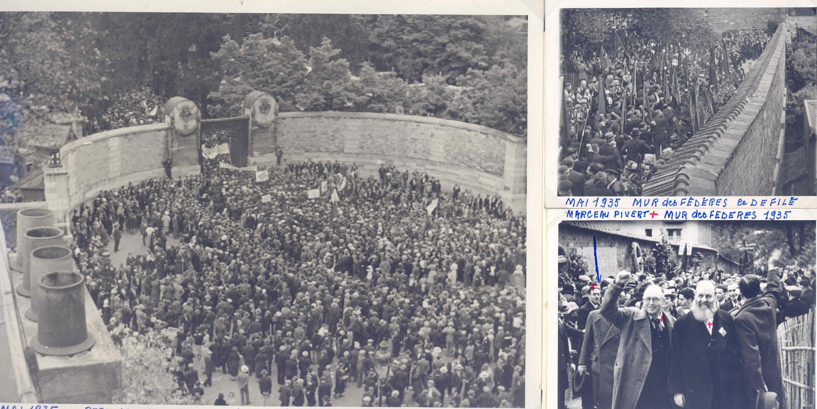 Pivert 1935 Mur des férérés 1er rassemblement commun SFIO-PCF