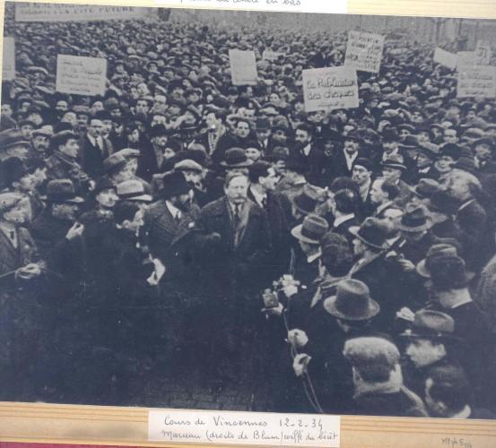 Pivert Cours de Vincennes 12 février 1934