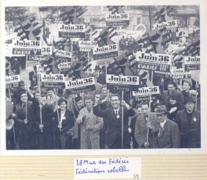 Pivert Juin 1936 Mur des fédéré