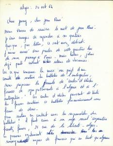 Page 1 Lettre Séverine Paraud octobre 1964