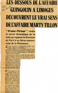 FT 30 septembre 1952 Georges Guingoin