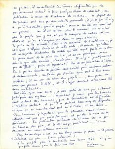 Lettre Eliane de Serres (3) 1er janvier 64 verso