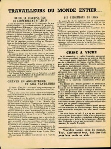 Le Peuple Syndicaliste 1943 verso