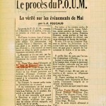 POUM 1938 La Flèche  recto