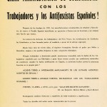 Tract d'appel à la Manif en Espagnol 1952