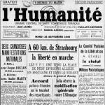 26 sept 194 - Milices patriotiques l'Huma