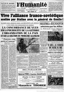 L'Humanité 12 décembre 1944