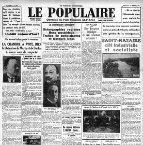 Le Populaire 16 janvier 1931 Marty Duclos libéré social-fascisme