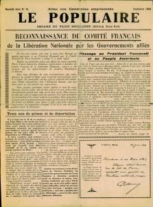 Le Populaire septembre 1943 page 1