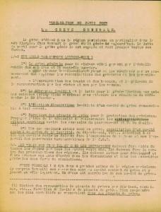 Bi grèves 1947 PCI recto de GRINBLAT Jacques dit Privas