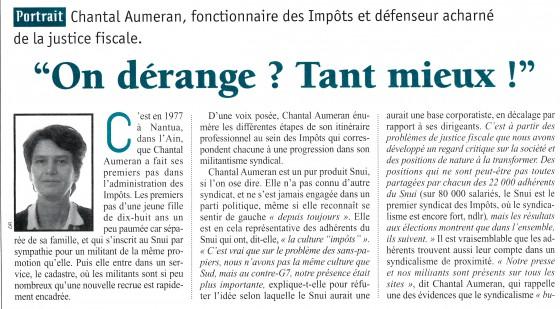 Dossier Politis 1996 Nouveau syndicalisme - Chantal Aumeran