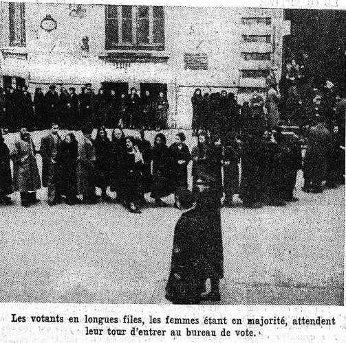 Vote des femmes, Front Populaire, 1936, espagne